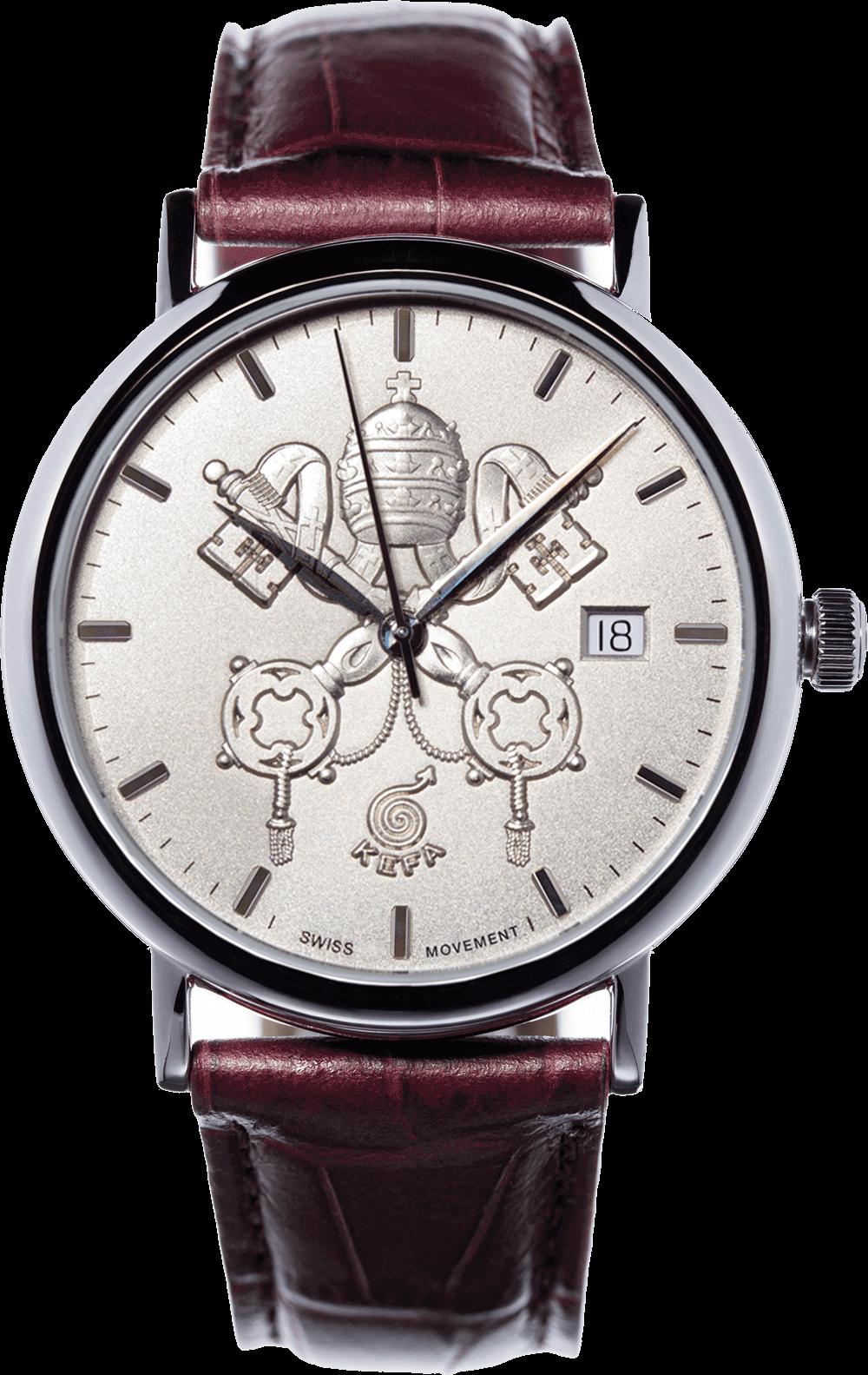 Orologio da collezione con stemma Papale e stemma del Vaticano